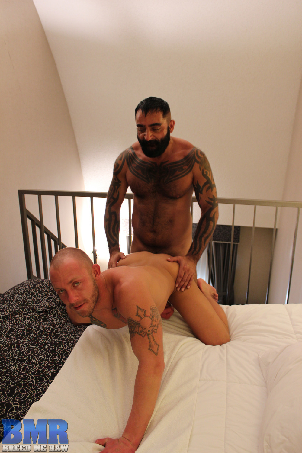 Breed-Me-Raw-Tom-Colt-and-Preston-Johnson-Hairy-Daddy-Barebacking-Amateur-Gay-Porn-11 Amateur Hairy Tatted Daddy Barebacking a Hot Young Smooth Bottom