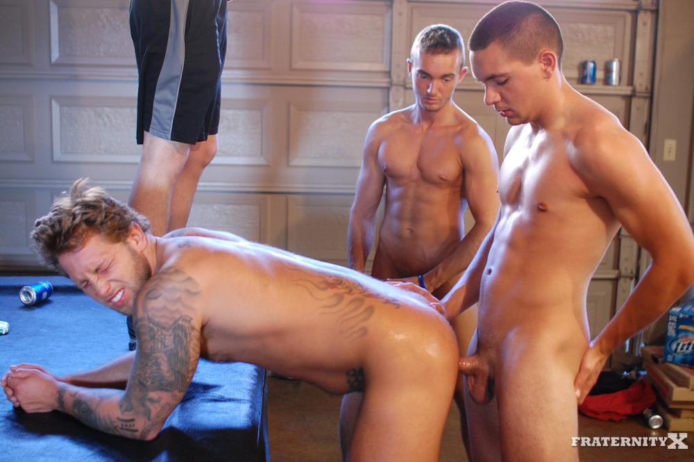 Fraternity-X-Carter-and-Grant-and-Kyle-Amateur-Fraternity-Barebacking-Gay-Porn-18 Passed Out Fraternity Boy Gets Barebacked By His Frat Brothers