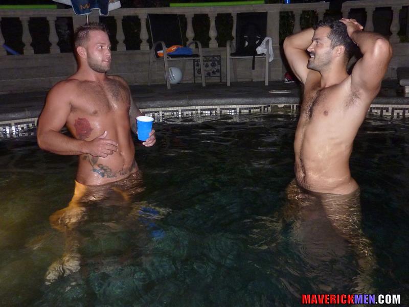 Maverick-Men-Carter-Jacobs-Drunks-Guys-With-Big-Cocks-Barebacking-Amateur-Gay-Porn-6 Drunk, Horny, Hairy, Muscle Gay Lovers Bareback Their Straight Buddy