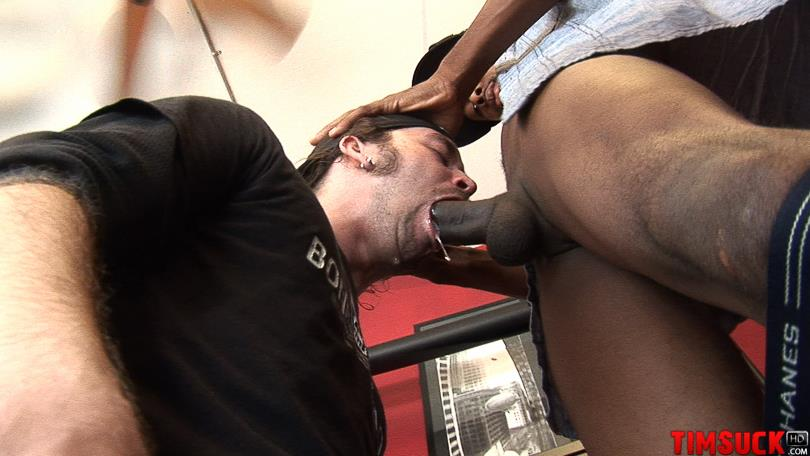 "Treasure-Island-Media-TimSuck-Trevor-and-Javin-Big-Black-Cock-Sucking-Amateur-Gay-Porn-07 White Guy Worshipping A 13"" Black Cock Until It Shoots In His Mouth"