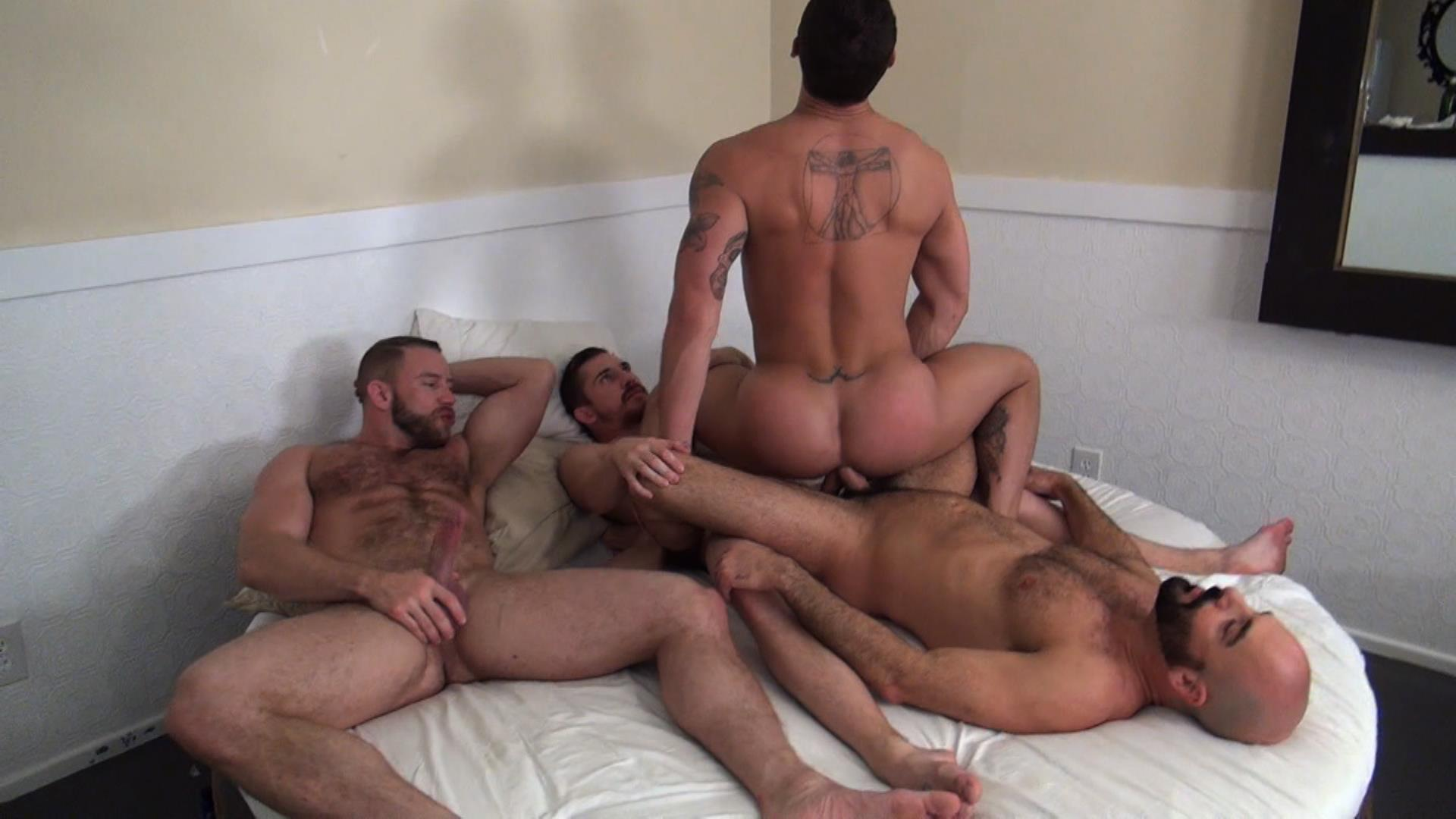 Raw Fuck Club Dayton OConnor Tate Ryder Shay Michaels Adam Russo Bareback Breeding Amateur Gay Porn 1 Tate Ryder Gets Three Hairy Muscle Daddy Bareback Cocks
