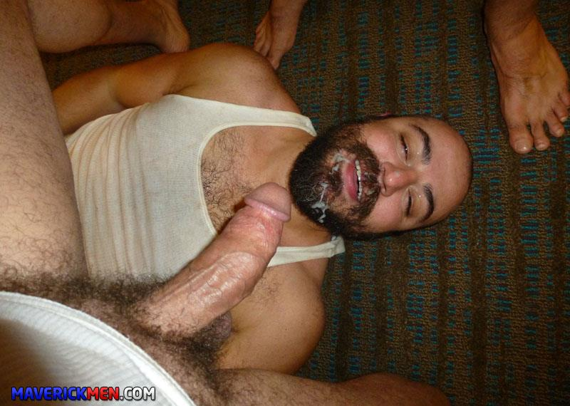 Maverick Men Grumpy Hairy Bear Gets Fucked By Two Big Daddy Cocks Amateur Gay Porn 2 The Maverick Men Bareback Tag Team A Hairy Bear Ass