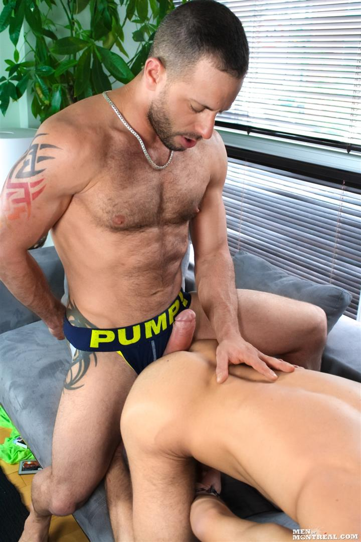 Men-of-Montreal-Brad-Rioux-and-Marco-Gagnon-Big-Uncut-Cock-Hairy-Guys-Fucking-Amateur-Gay-Porn-13 Big Uncut Cock Hairy Muscle Guys Flip Flop Fucking