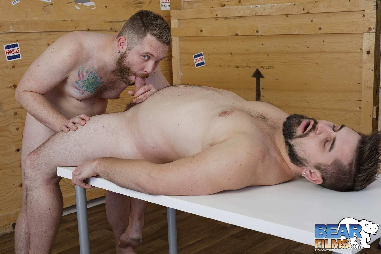 Bear-Films-Guermica-and-Sammy-Clover-Chubby-Bears-Sucking-Thick-Cocks-Amateur-Gay-Porn-16 Hairy Chubby Bears Sucking On Each Other's Thick Uncut Cocks