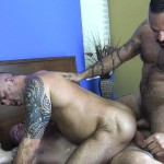 Raw Fuck Club Alessio Romero and Jon Galt and Vic Rocco Hairy Muscle Daddy Bareback Amateur Gay Porn 1 150x150 Hairy Muscle Daddy Threeway Double Bareback Penetration
