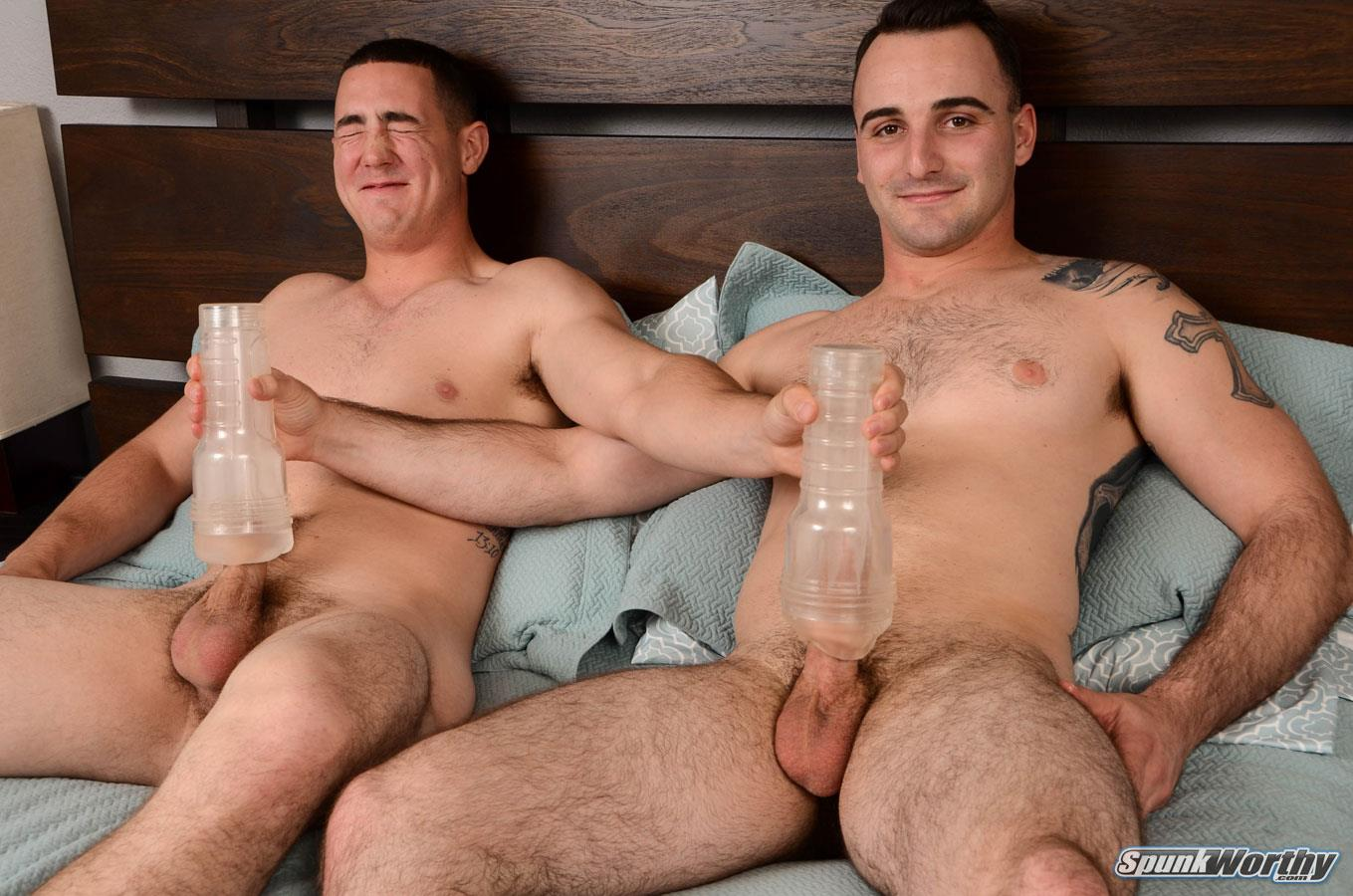 SpunkWorthy Damien and Tom Army Buddies Jerking Off Together Army Cock Amateur Gay Porn 15 Straight Army Boys Share Some Jerkoff Time Together