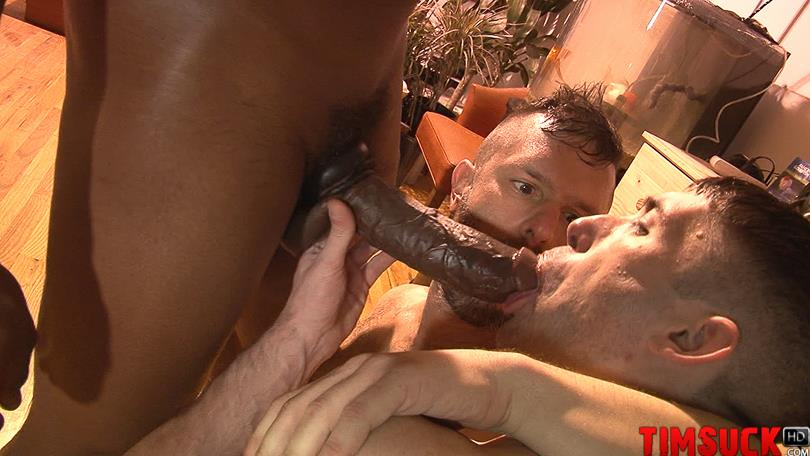 Treasure-Island-Media-TimSuck-Krave-and-Kyle-Ferris-and-James-Eden-Big-Black-Cock-Amateur-Gay-Porn-2 Two White Guys Worshipping Krave's Big Black Cock