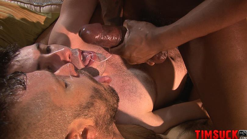 Treasure-Island-Media-TimSuck-Krave-and-Kyle-Ferris-and-James-Eden-Big-Black-Cock-Amateur-Gay-Porn-9 Two White Guys Worshipping Krave's Big Black Cock