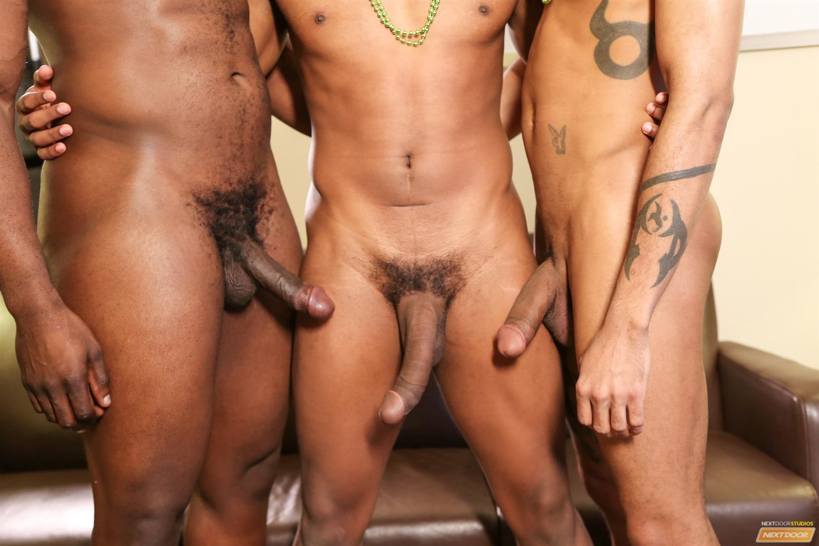 Next Door Ebony Nubius and Jin Powers and XL Naked Thugs Threeway Fucking Amateur Gay Porn 06 Big Black Cock Threeway Suck and Fuck Thug Fest