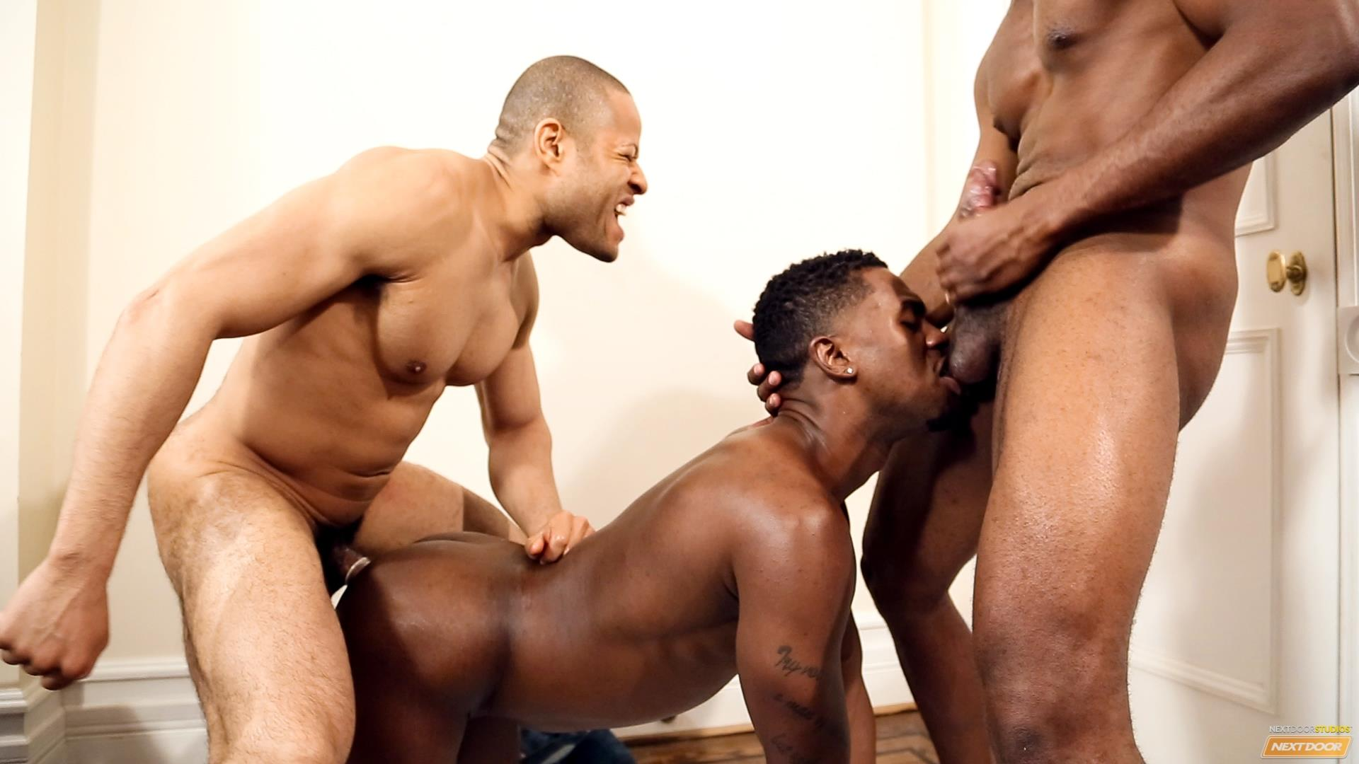 Next-Door-Ebony-Krave-Moore-and-Andre-Donovan-and-Rex-Cobra-Big-Black-Cock-Amateur-Gay-Porn-15 Three Black Guys Playing Strip Dominoes With Their Big Black Cocks