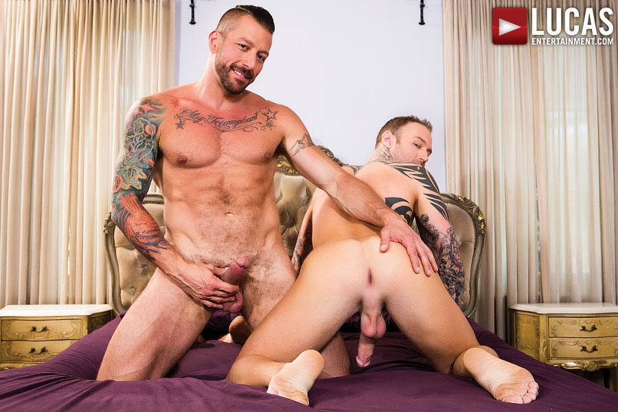 Lucas Entertainment Dylan James and Hugh Hunter Muscular Bareback Amateur Gay Porn 01 Muscular Hunks Dylan James And Hugh Hunter Fucking Bareback