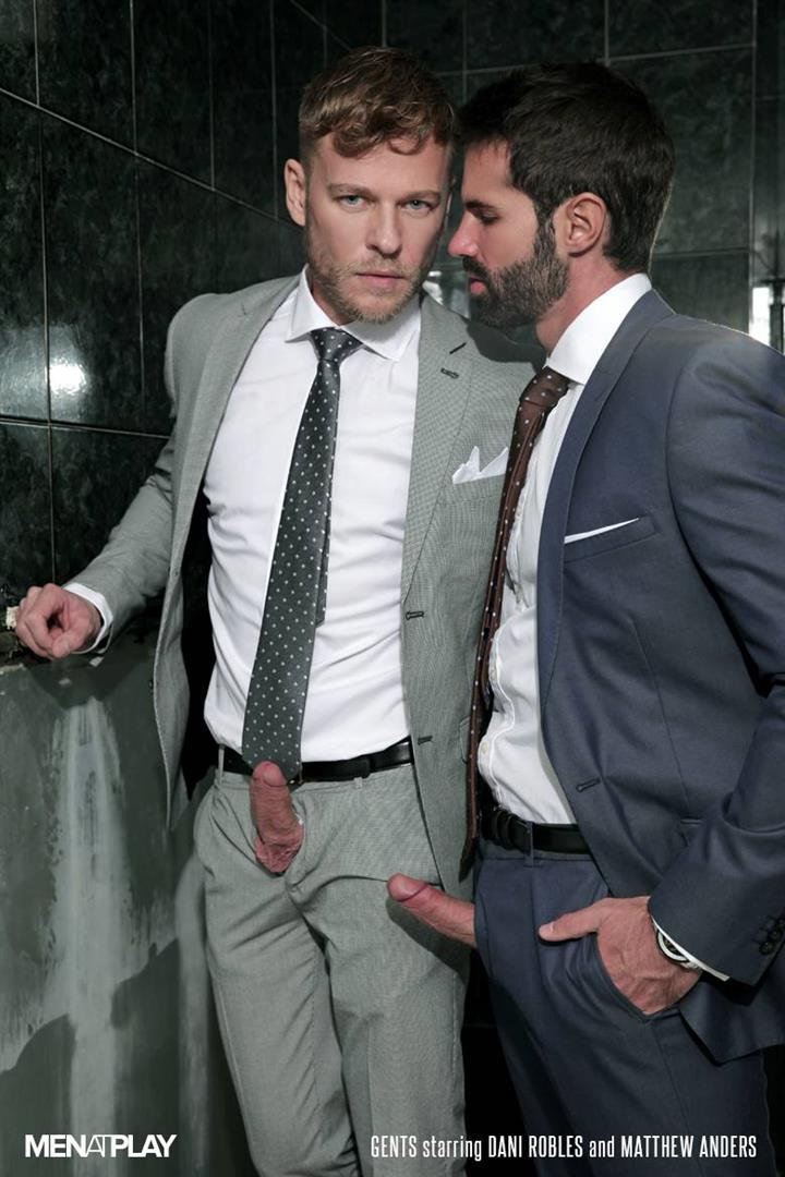 Men At Play Matthew Anders and Dani Robles Men In Suits With Big Cocks Fucking Amateur Gay Porn 01 Looking For Cock and A Fuck In the Mens Restroom