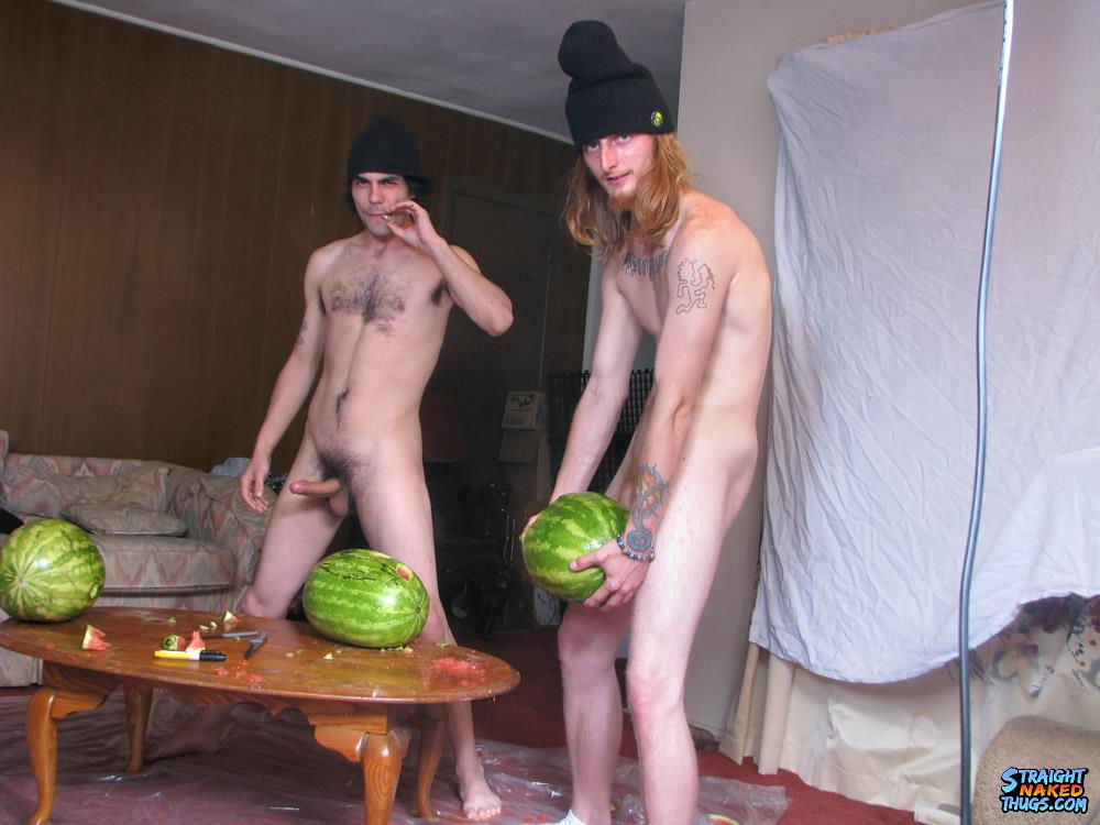 Straight-Naked-Thugs-Devin-Reynolds-and-Blinx-and-Kenneth-Slayer-Fucking-A-Watermelon-Amateur-Gay-Porn-13 Straight Southern Naked Rednecks Fuck Some Watermelons With Their Big Dicks