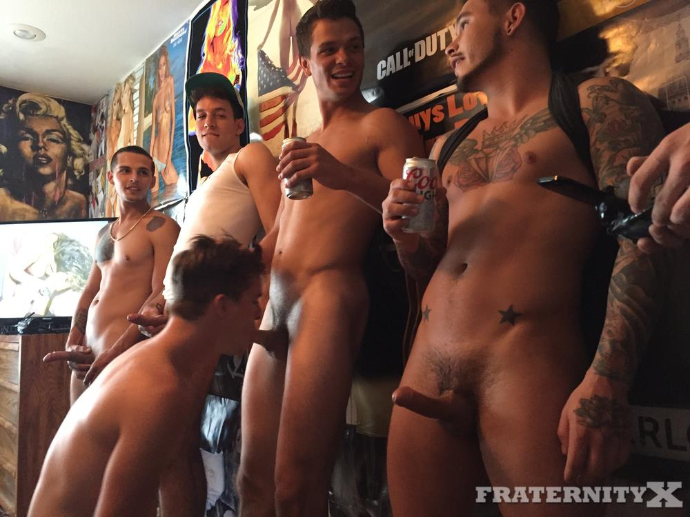 Fraternity-X-Naked-Frat-Boys-Bareback-Sex-20 Fraternity Boy Dean Takes Several Raw Cocks Up The Ass
