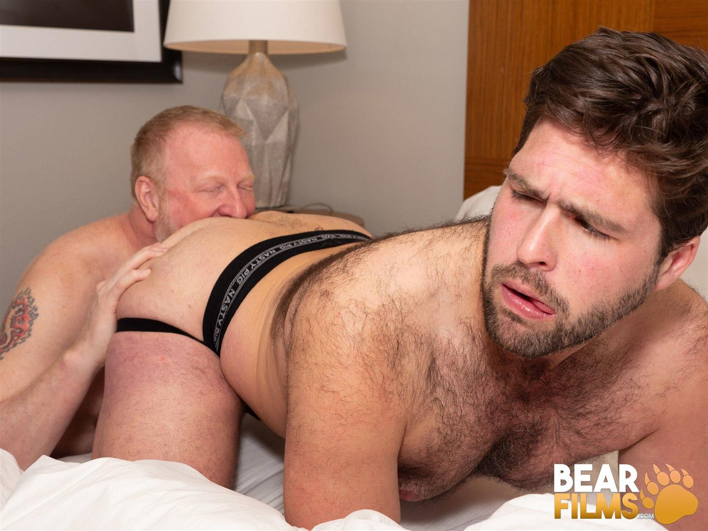 Bear-Films-Rusty-McMann-and-John-Pucker-Daddy-Bareback-Fucking-Younger-Cub-Video-11 Ginger Daddy Bareback Fucking A Hairy Chubby Cub