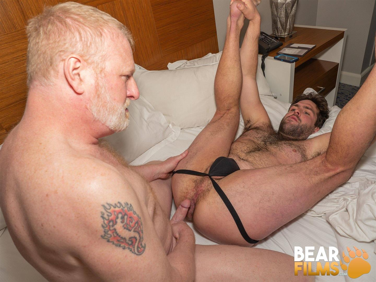 Bear-Films-Rusty-McMann-and-John-Pucker-Daddy-Bareback-Fucking-Younger-Cub-Video-27 Ginger Daddy Bareback Fucking A Hairy Chubby Cub