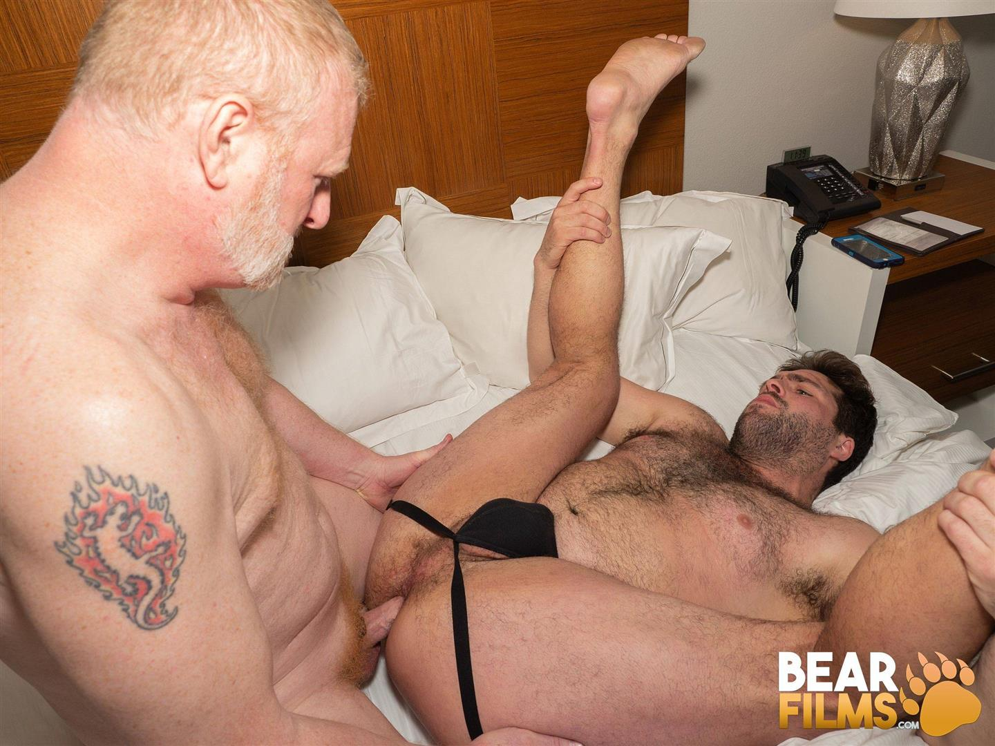 Bear-Films-Rusty-McMann-and-John-Pucker-Daddy-Bareback-Fucking-Younger-Cub-Video-29 Ginger Daddy Bareback Fucking A Hairy Chubby Cub