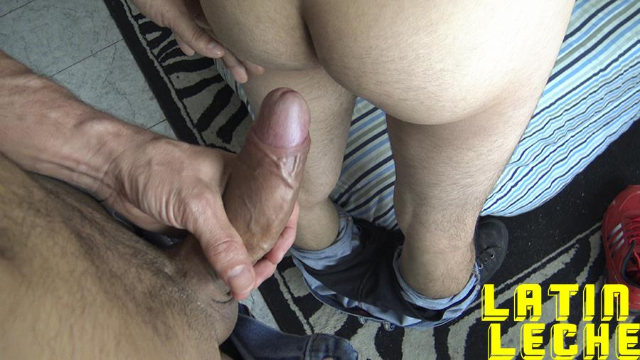 Latin-Leche-Straight-Latino-Big-Uncut-Cock-First-Time-Gay-Bareback-Sex-08 Big Uncut Dick Straight Latino Becomes A Gay Cum Dump For Money