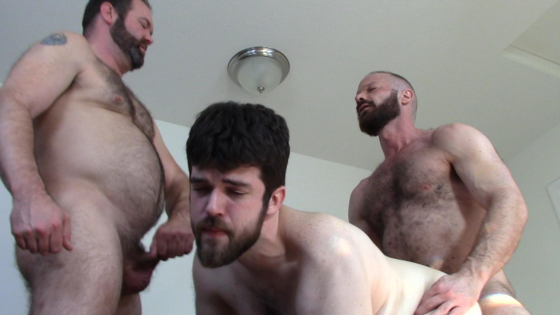Topher-Phoenix-and-MuscleBul-and-David-Coyote-Daddies-Breeding-A-Chubby-Cub-18 Topher Phoenix and MuscleBull Take Turns Breeding Chubby Cub David Coyote